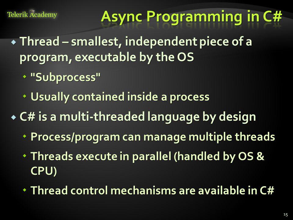 Async Programming in C#