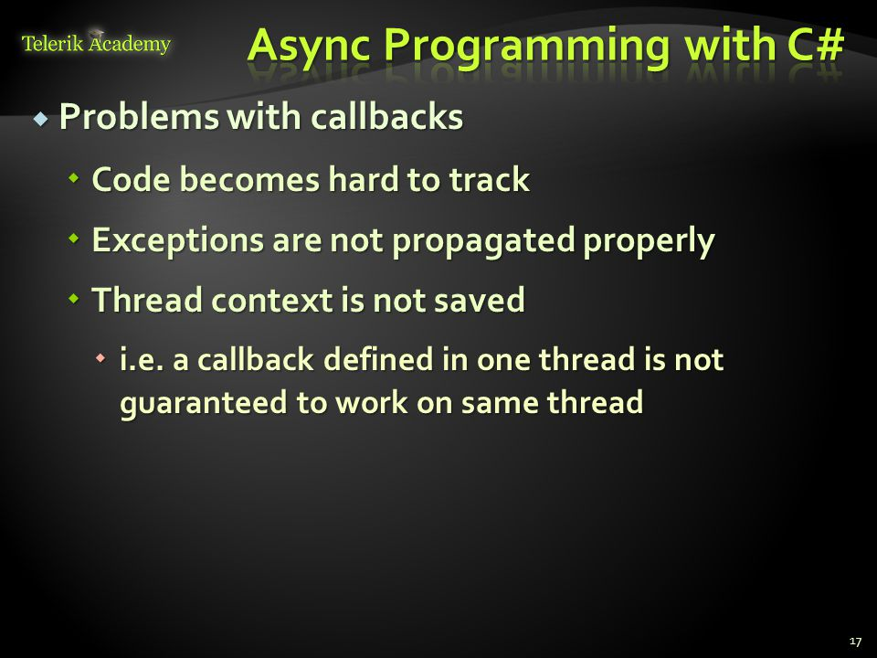 Async Programming with C#