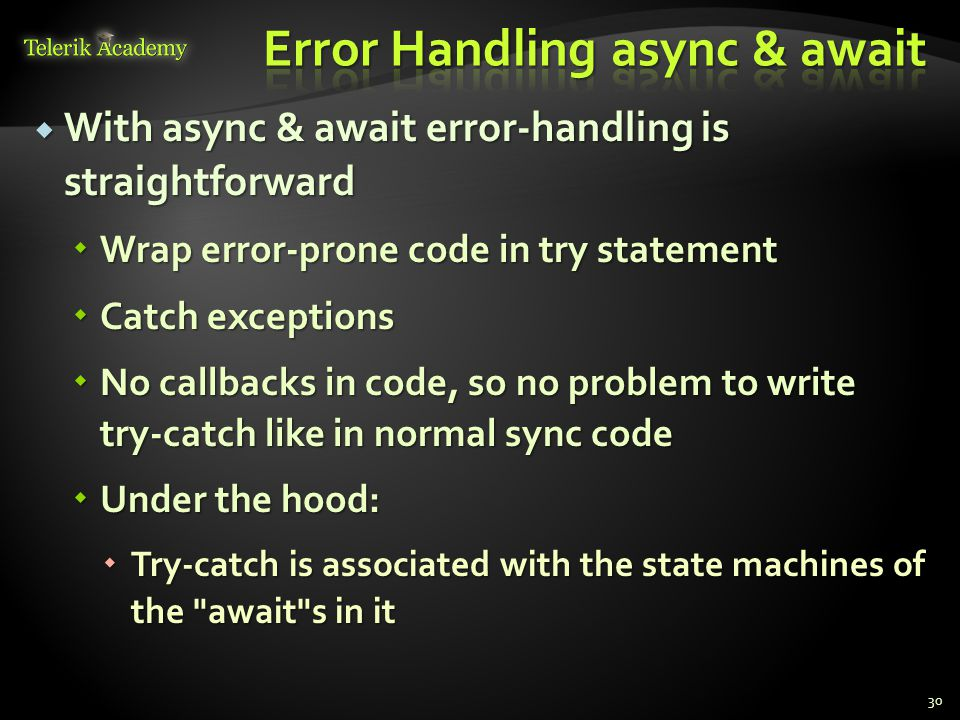 Error Handling async & await
