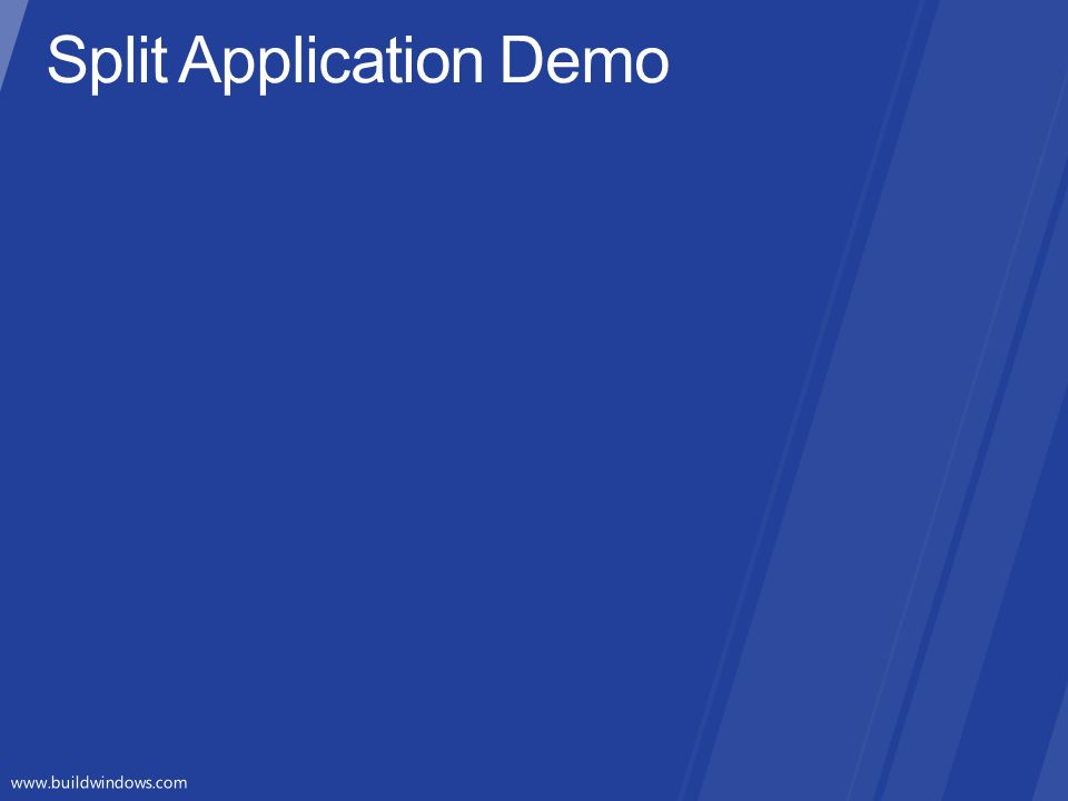 Split Application Demo