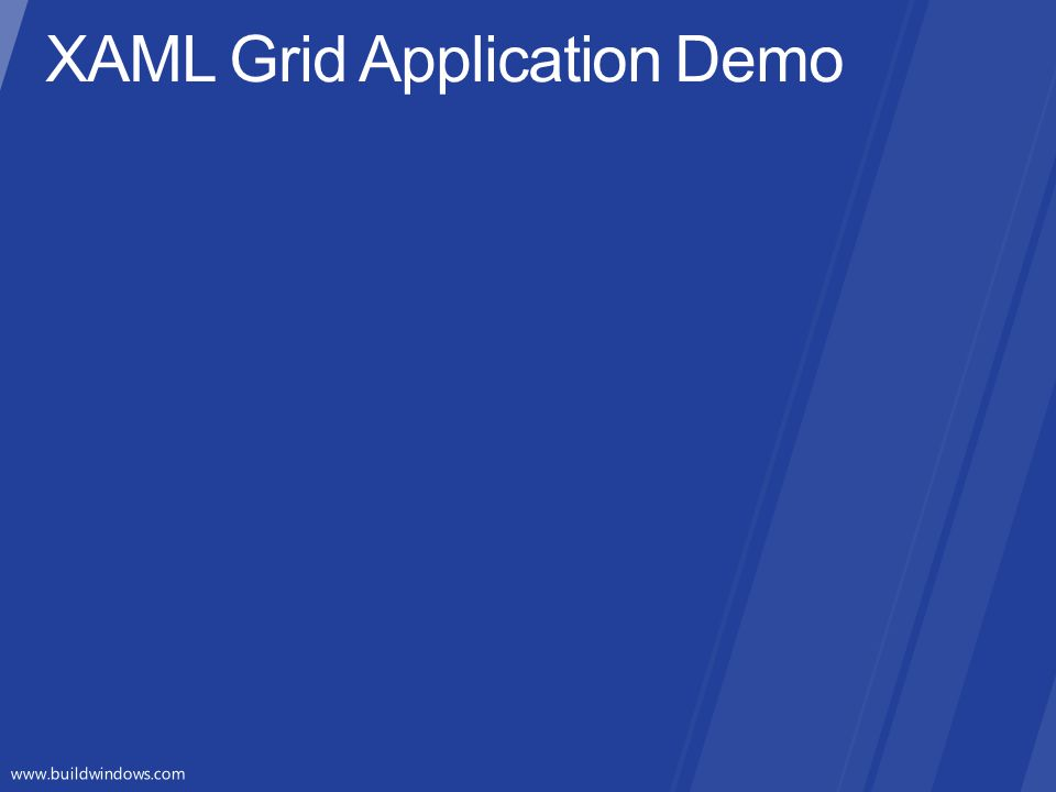XAML Grid Application Demo