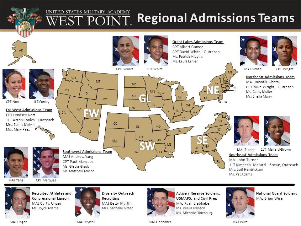 Regional Admissions Teams