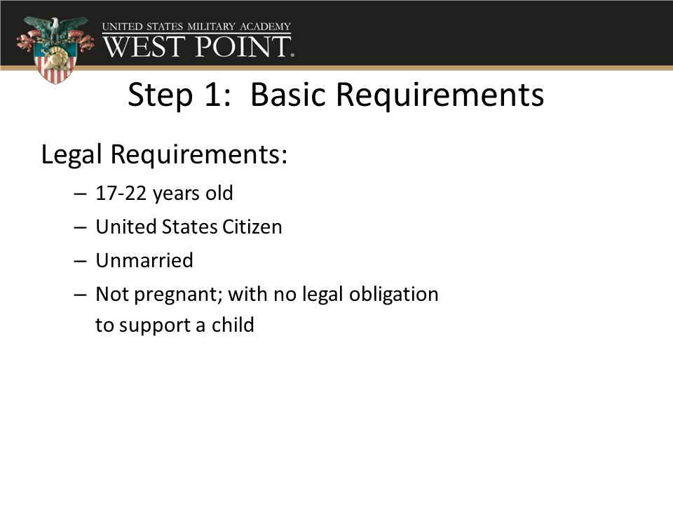 Step 1: Basic Requirements