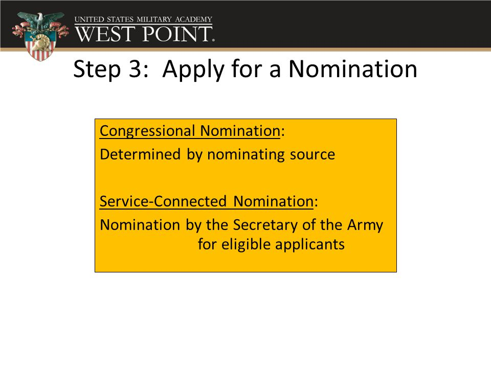 Step 3: Apply for a Nomination