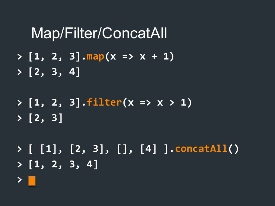 Map/Filter/ConcatAll