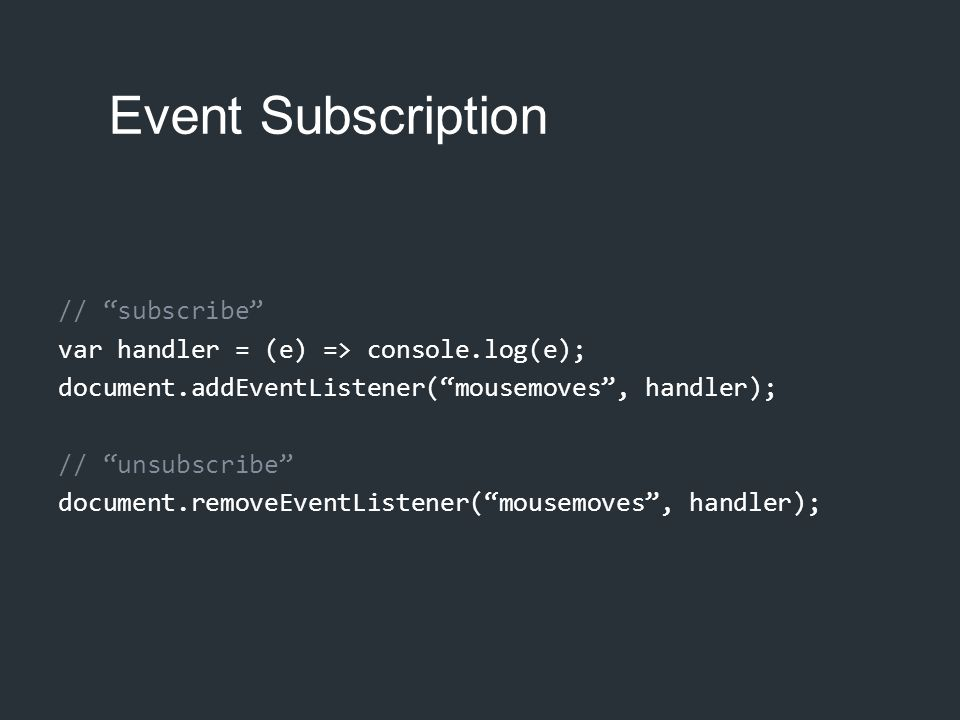 Event Subscription