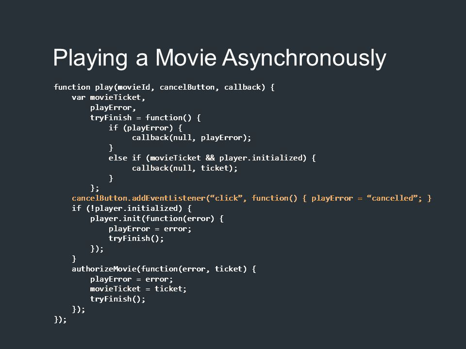Playing a Movie Asynchronously