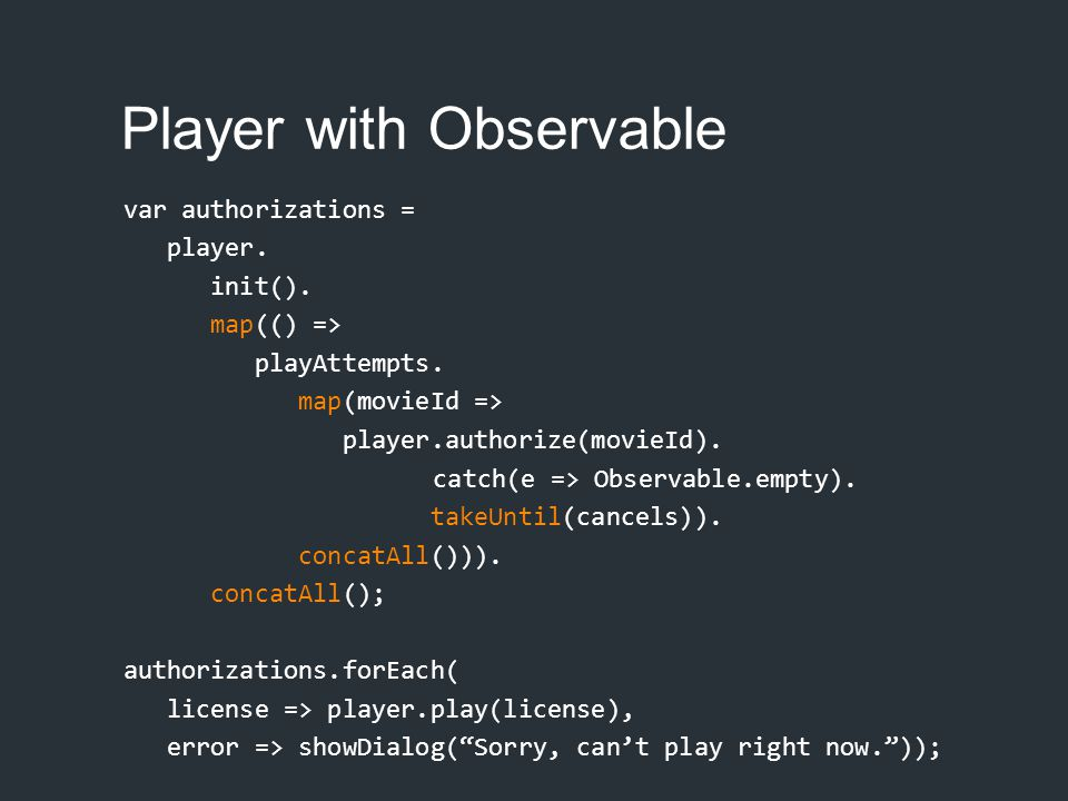 Player with Observable