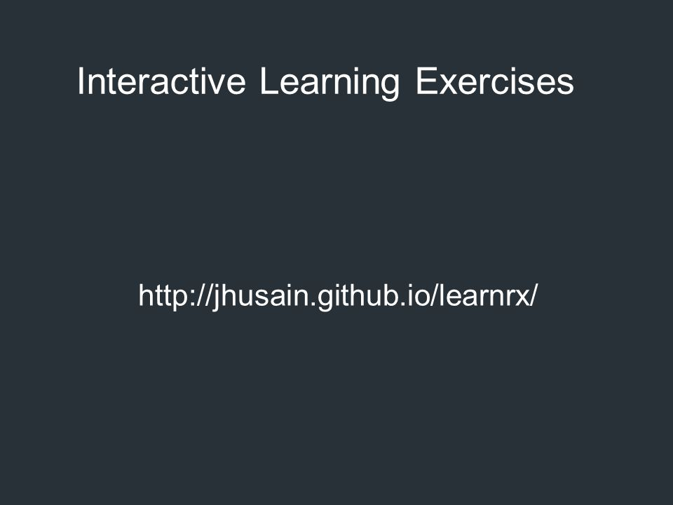 Interactive Learning Exercises