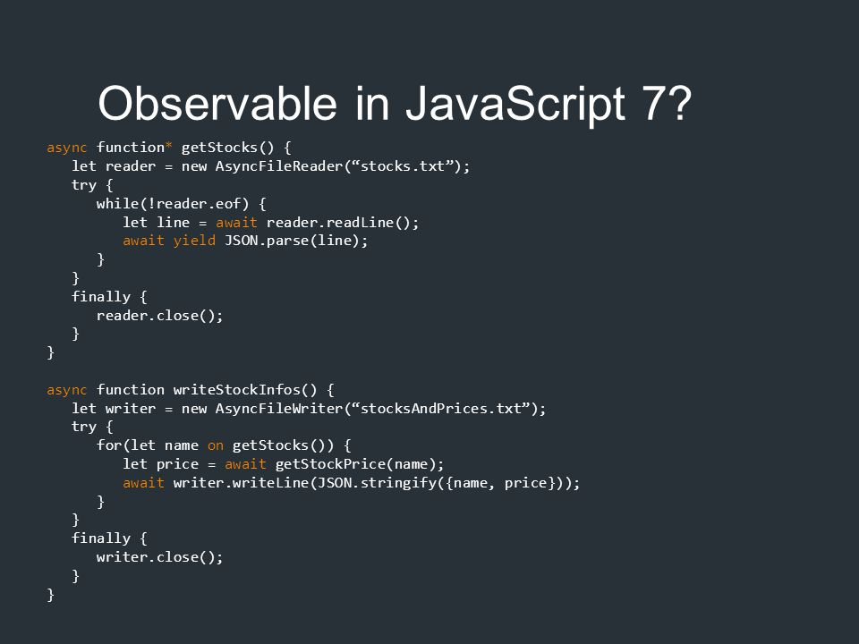Observable in JavaScript 7
