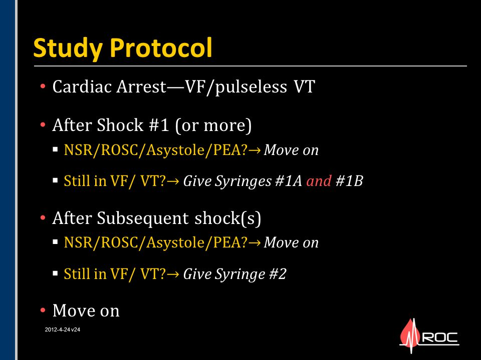 Study Protocol Cardiac Arrest—VF/pulseless VT After Shock #1 (or more)