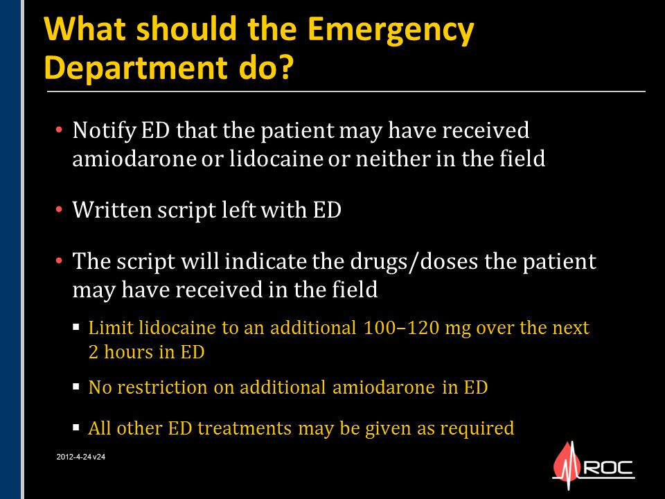 What should the Emergency Department do