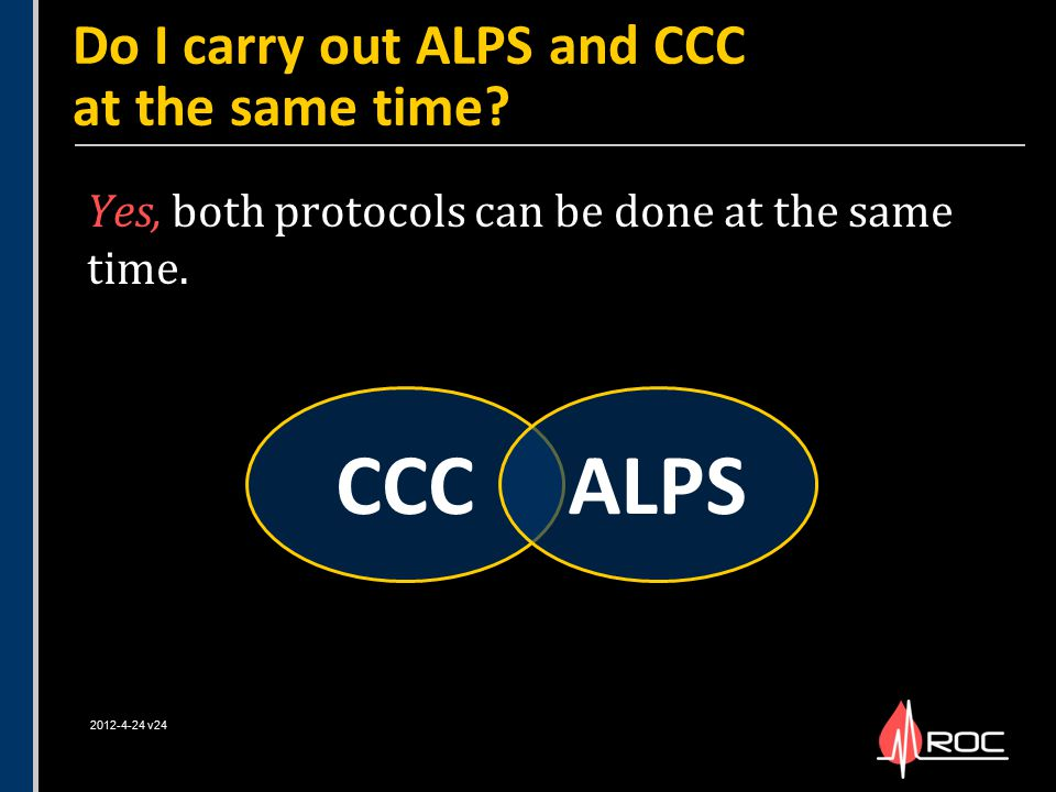 Do I carry out ALPS and CCC at the same time