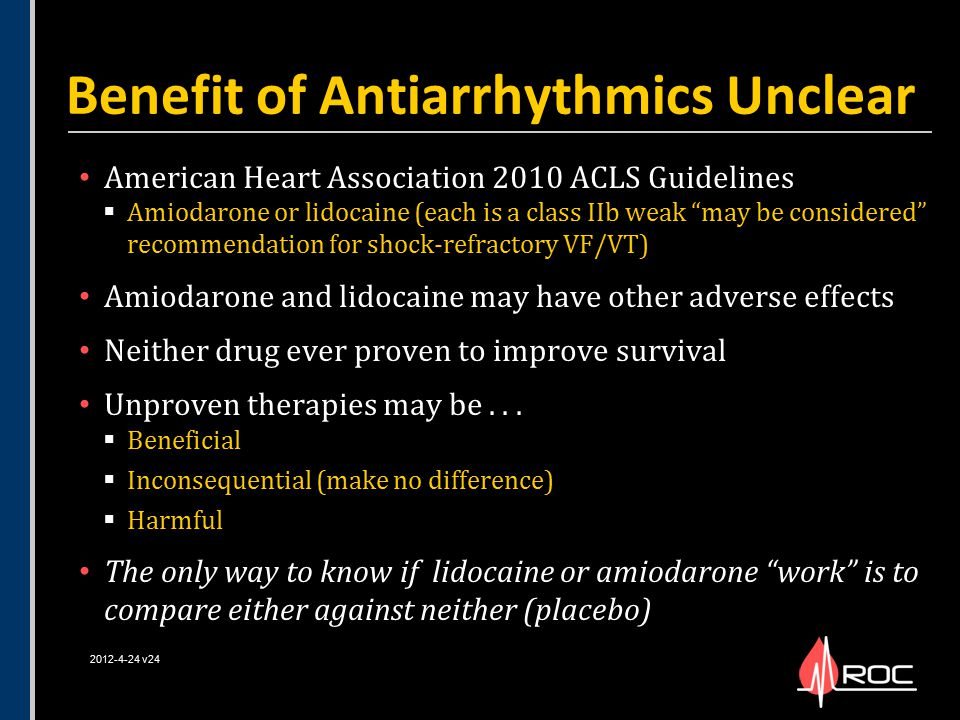 Benefit of Antiarrhythmics Unclear
