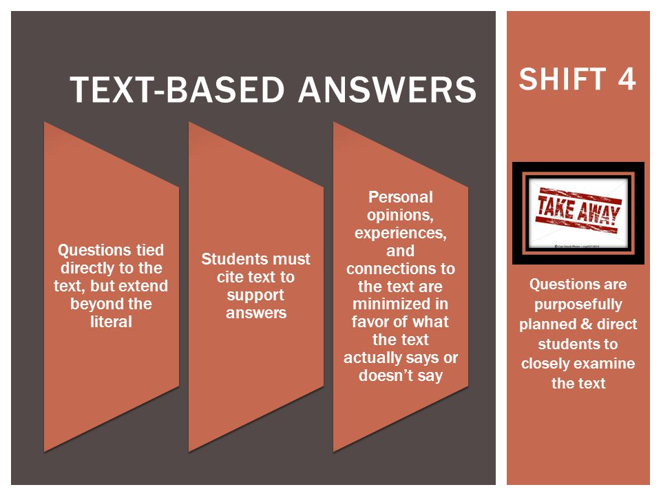 Text-based answers SHIFT 4