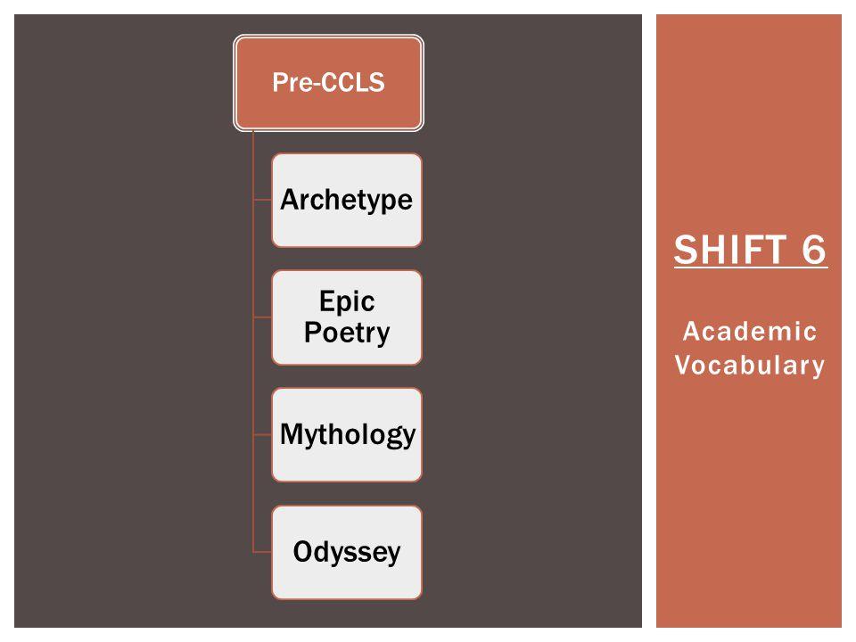 SHIFT 6 Academic Vocabulary