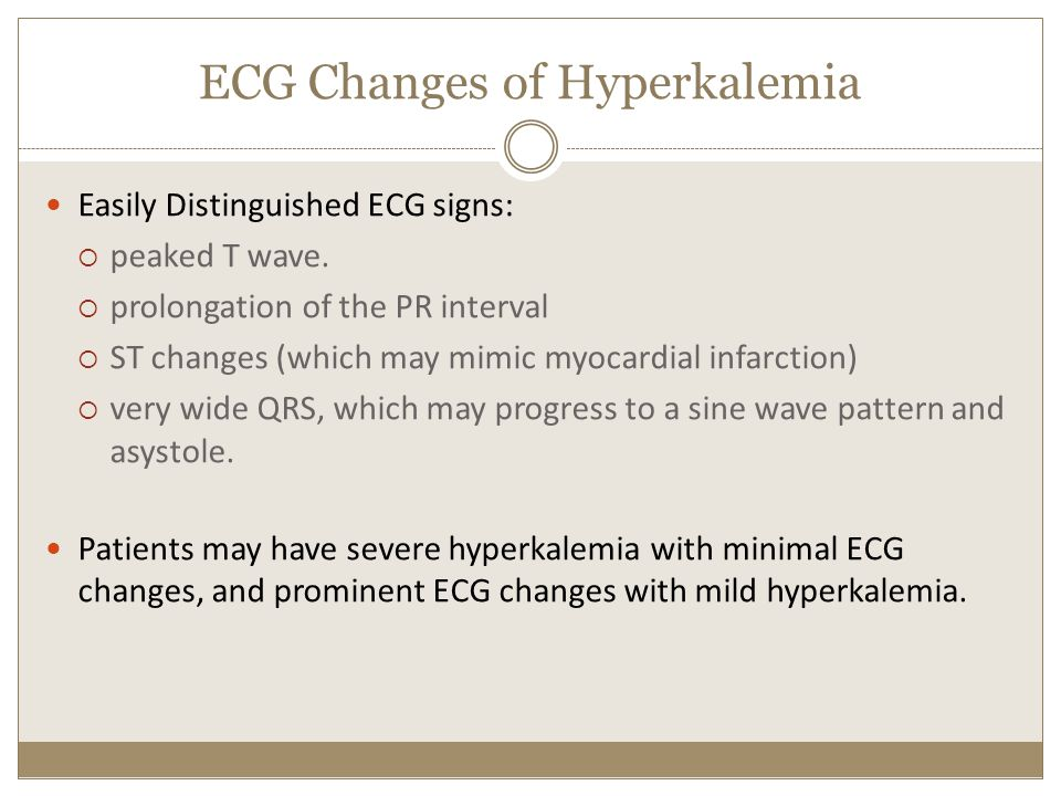 ECG Changes of Hyperkalemia