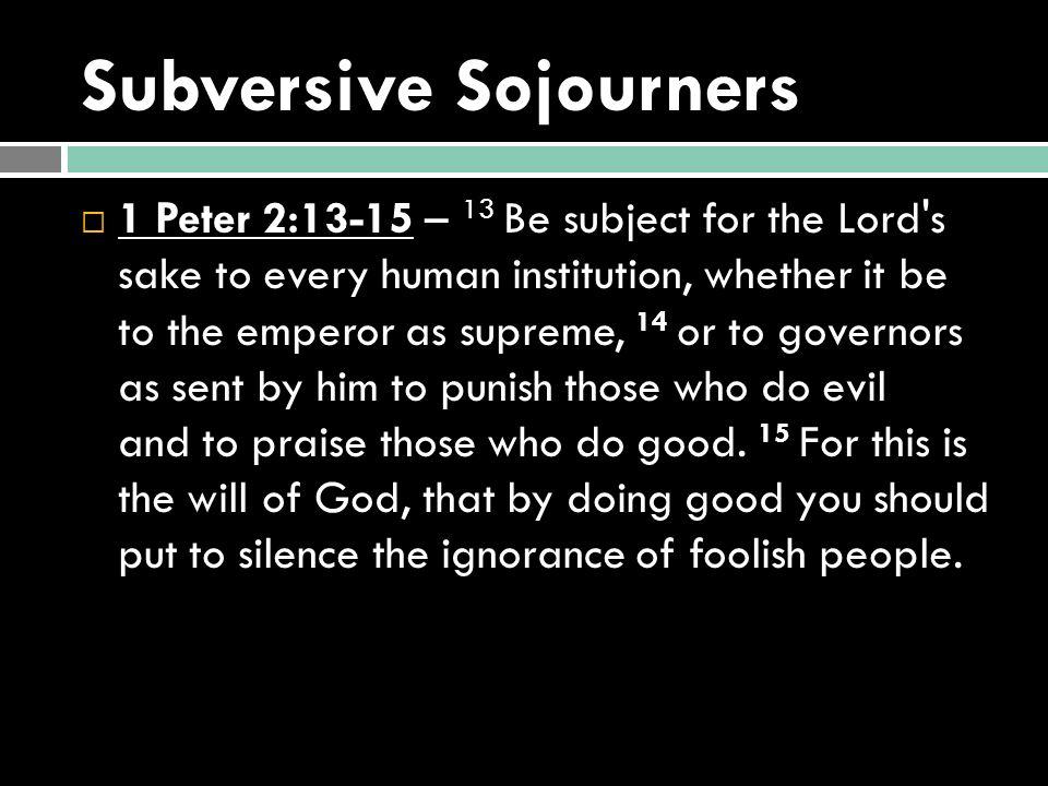 Subversive Sojourners