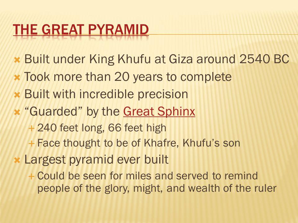 The Great Pyramid Built under King Khufu at Giza around 2540 BC