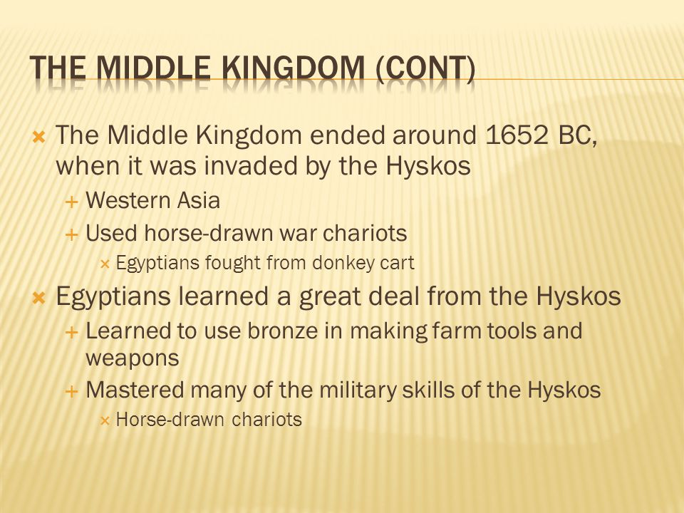 The Middle Kingdom (Cont)