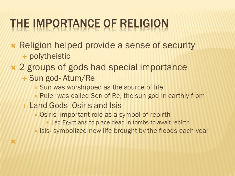The Importance of Religion