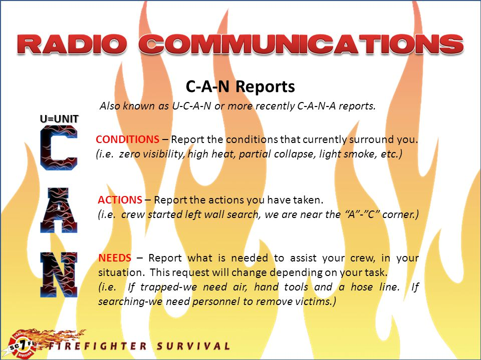 C-A-N Reports Also known as U-C-A-N or more recently C-A-N-A reports.