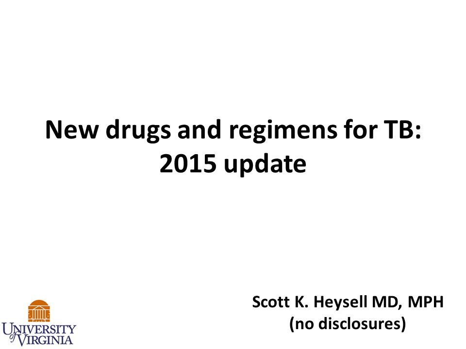New drugs and regimens for TB: 2015 update