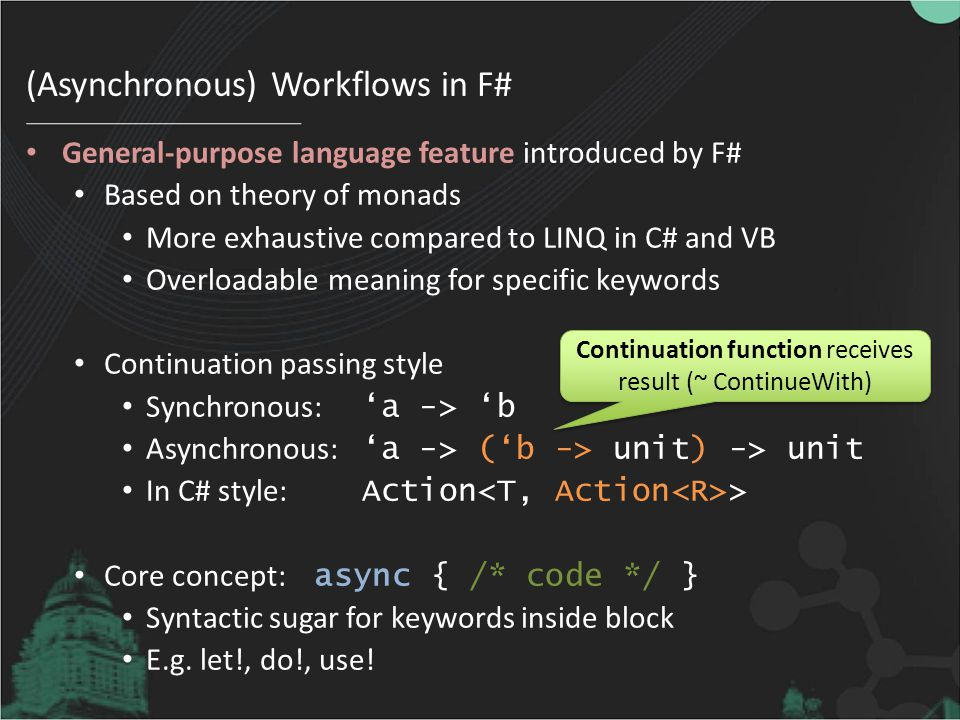 (Asynchronous) Workflows in F#