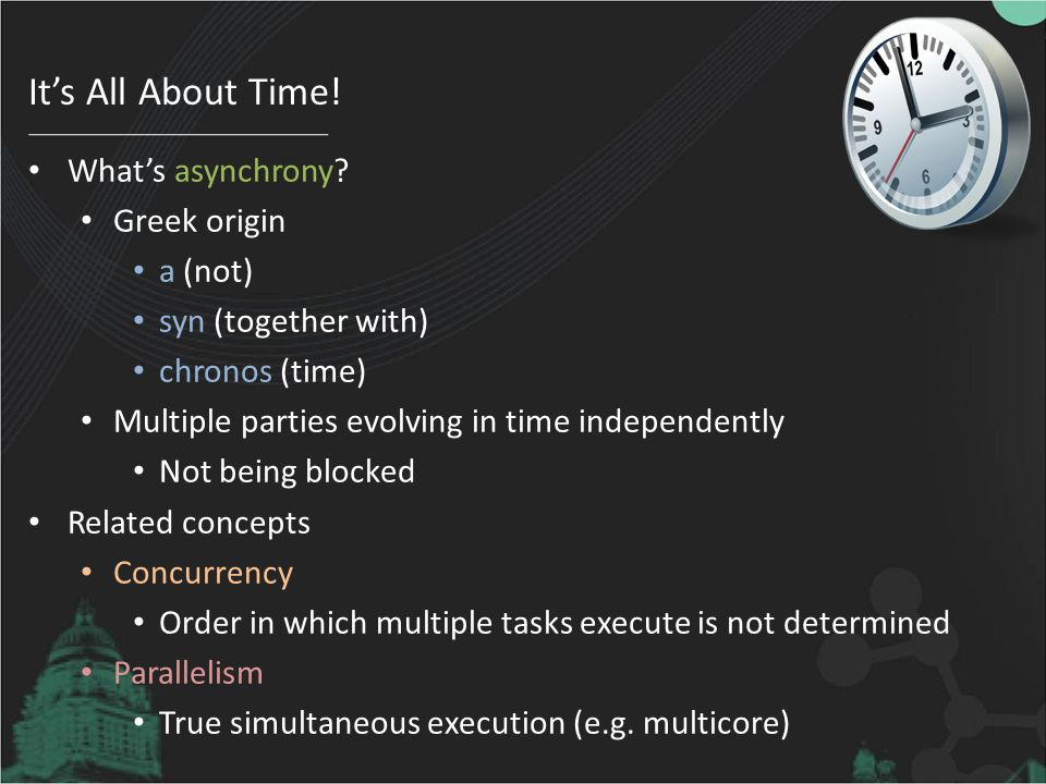 It's All About Time! What's asynchrony Greek origin a (not)