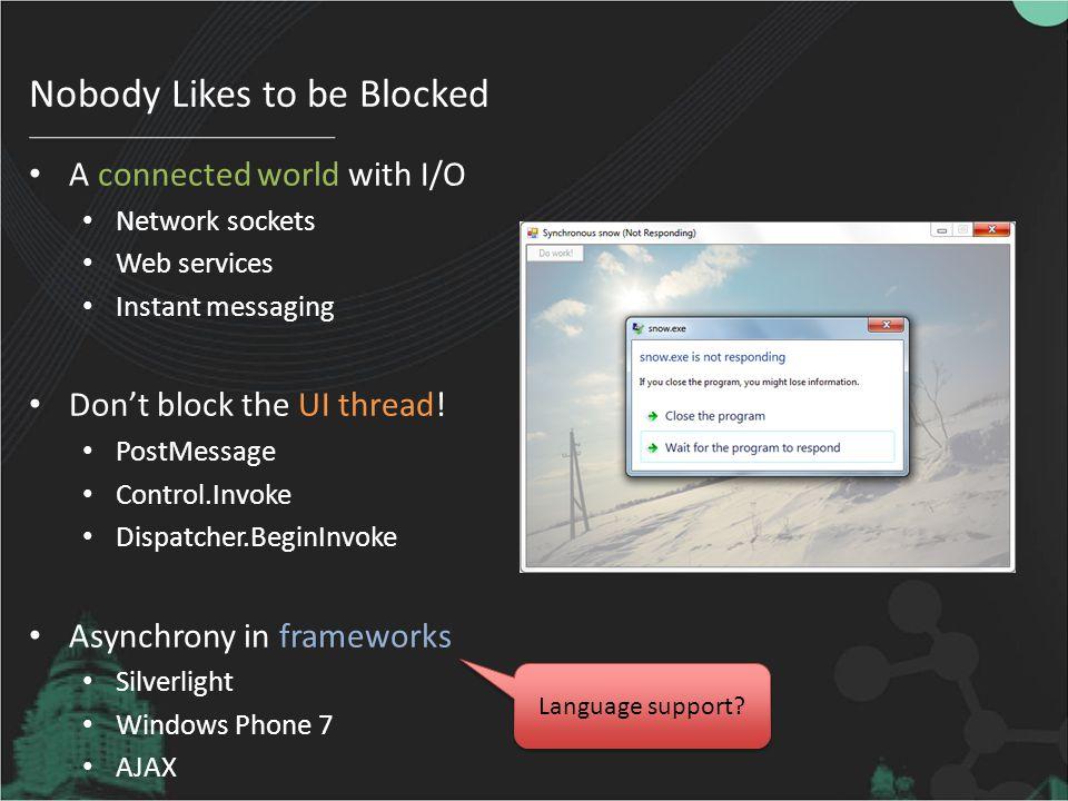 Nobody Likes to be Blocked
