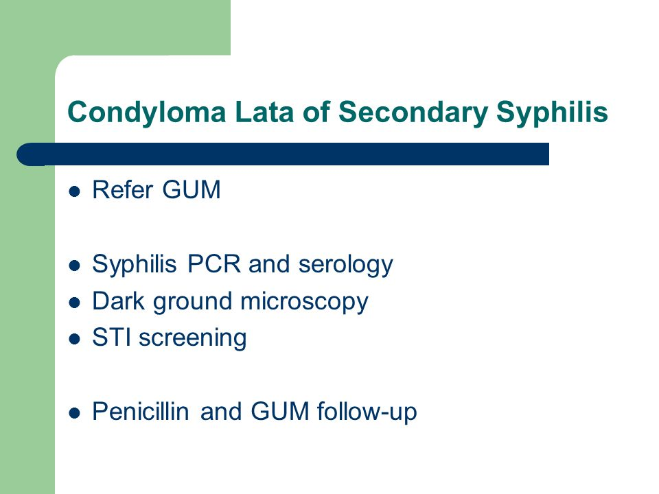 Condyloma Lata of Secondary Syphilis