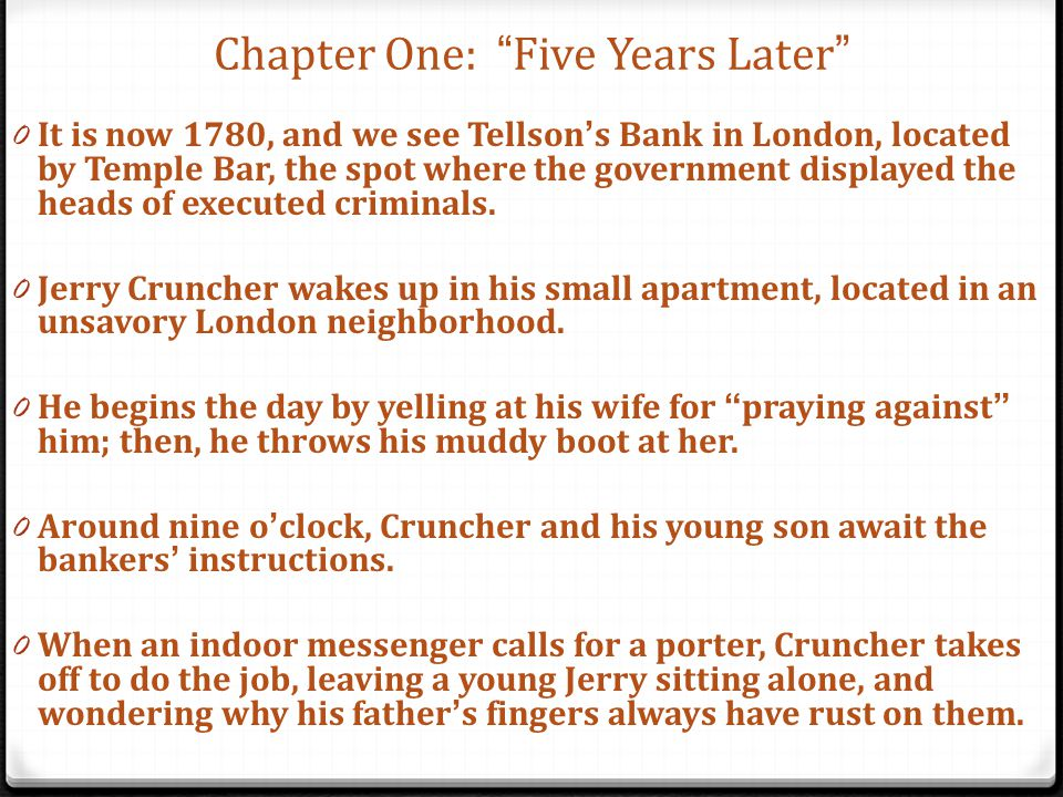 Chapter One: Five Years Later