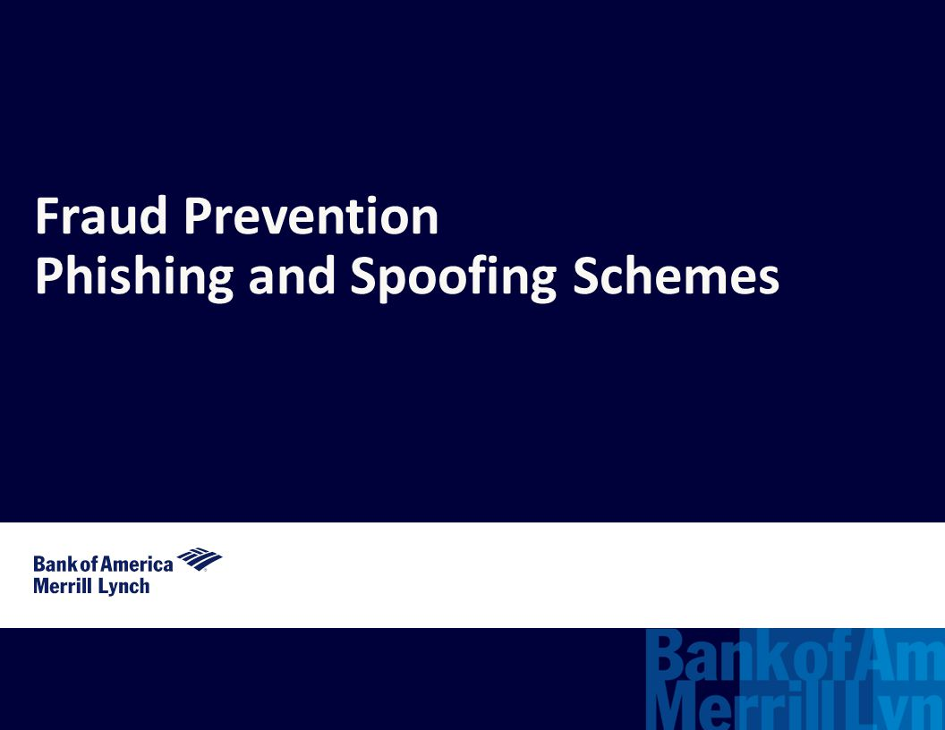 Phishing and Spoofing Schemes