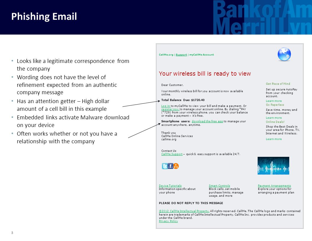 Phishing Email Looks like a legitimate correspondence from the company