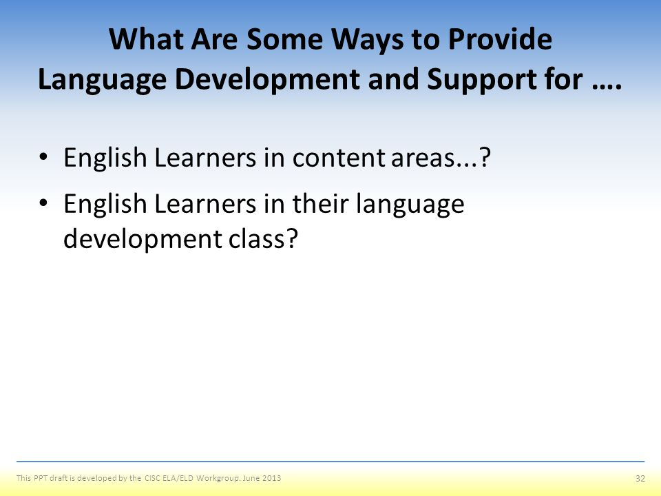 What Are Some Ways to Provide Language Development and Support for ….