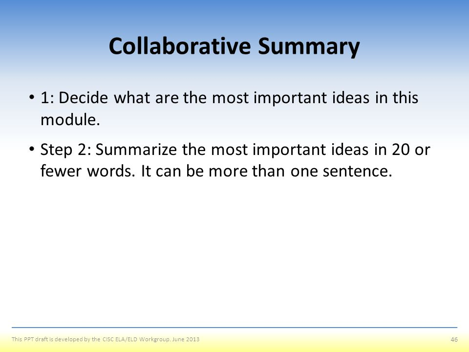 Collaborative Summary