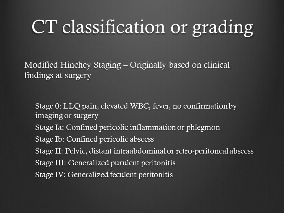 CT classification or grading