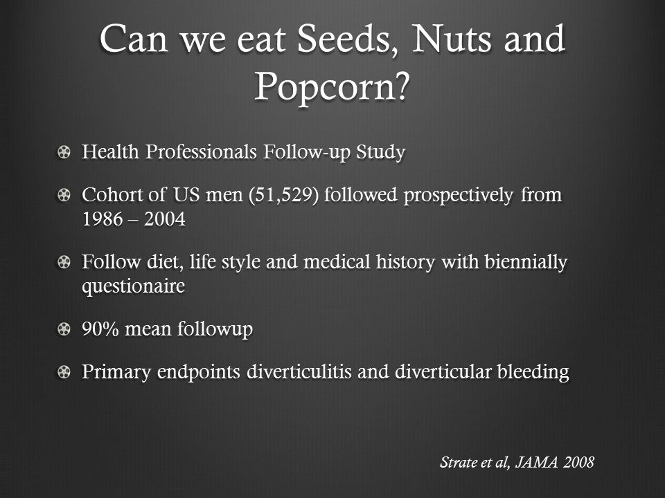 Can we eat Seeds, Nuts and Popcorn