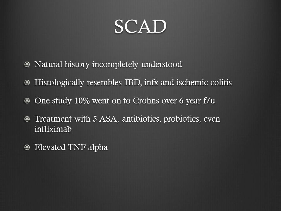 SCAD Natural history incompletely understood