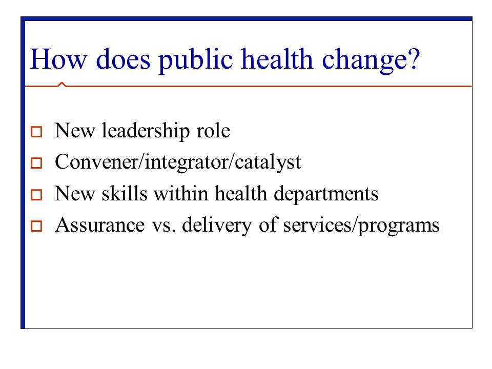 How does public health change