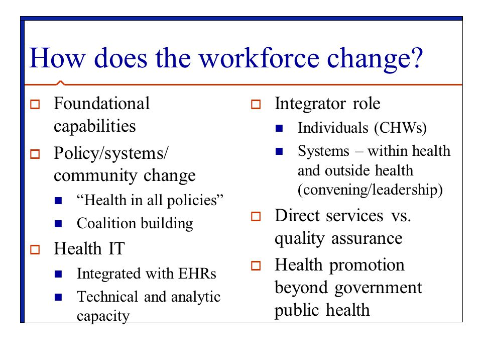 How does the workforce change