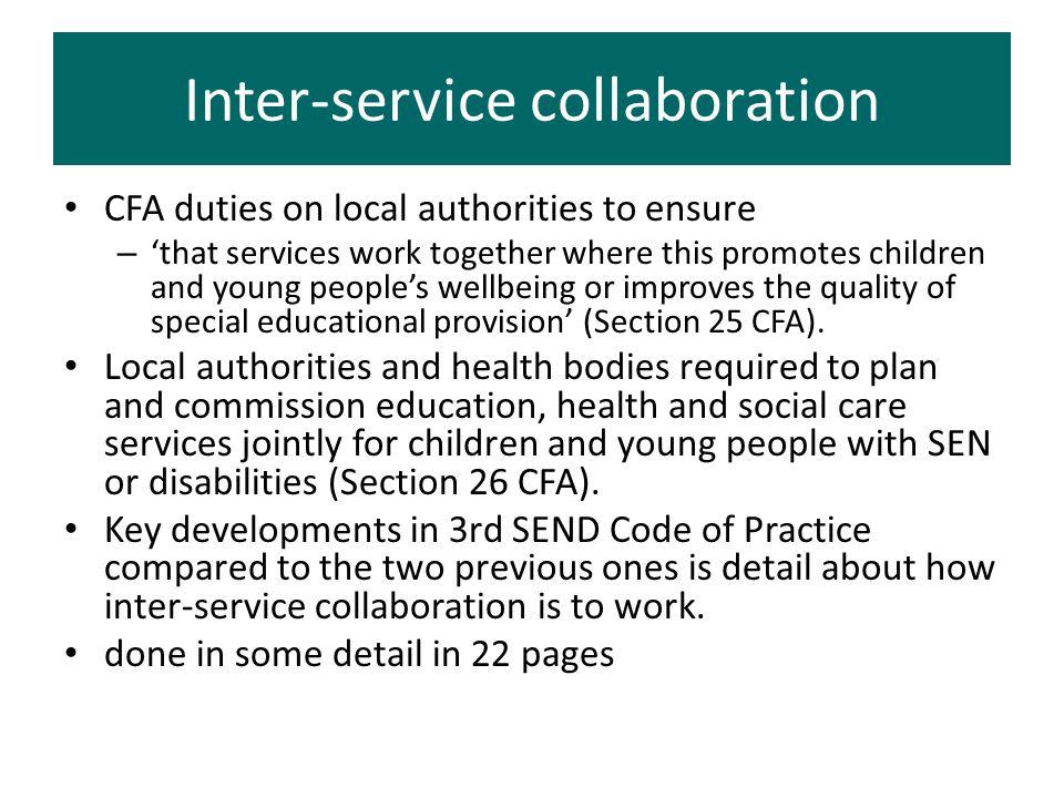 Inter-service collaboration