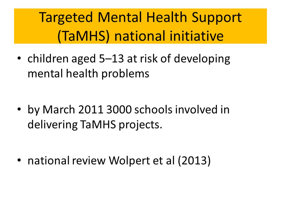 Targeted Mental Health Support (TaMHS) national initiative
