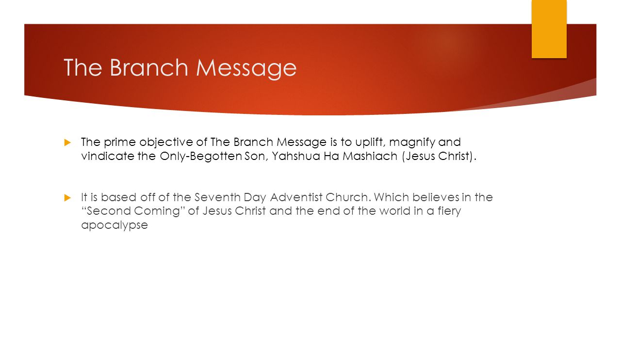 The Branch Message