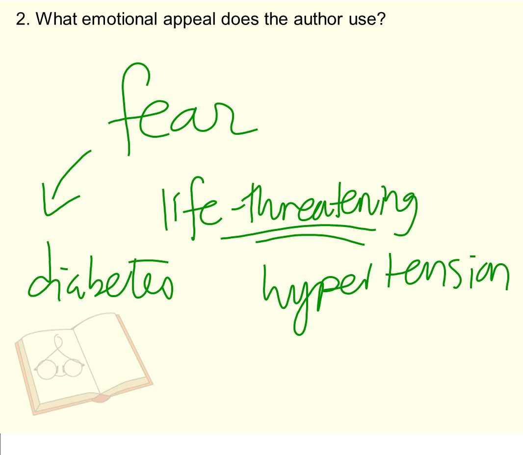 2. What emotional appeal does the author use