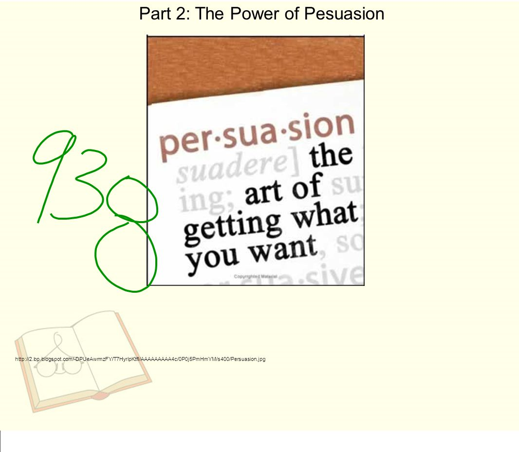Part 2: The Power of Pesuasion