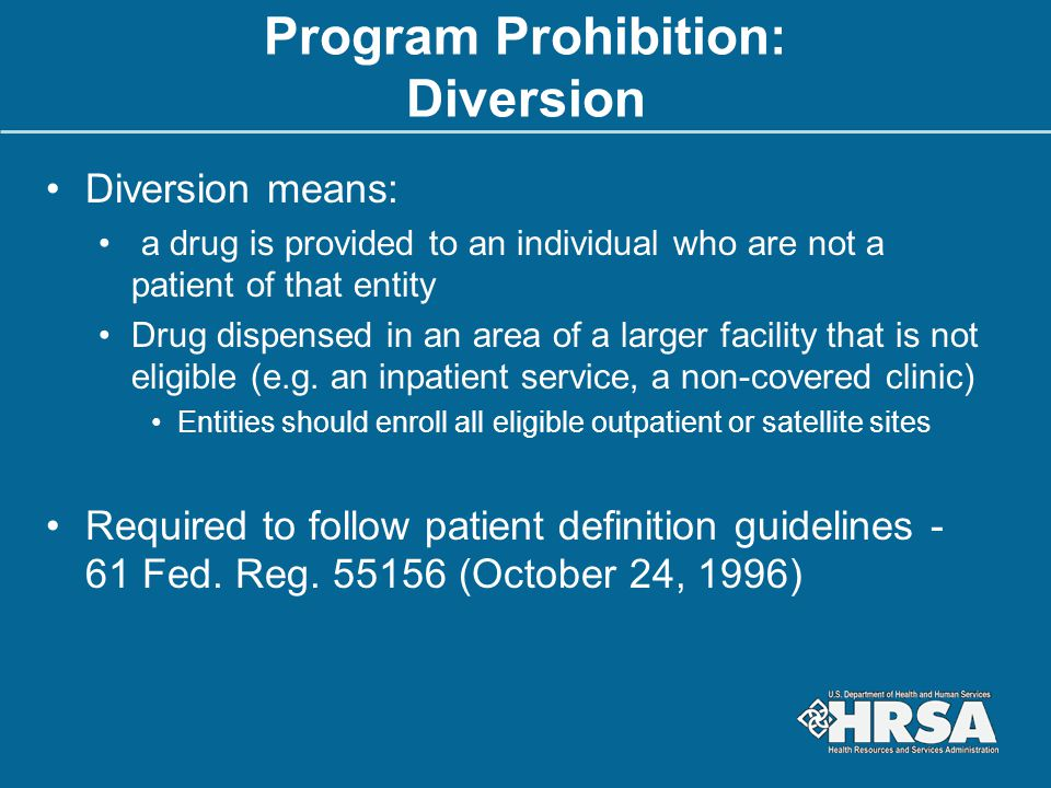 Program Prohibition: Diversion