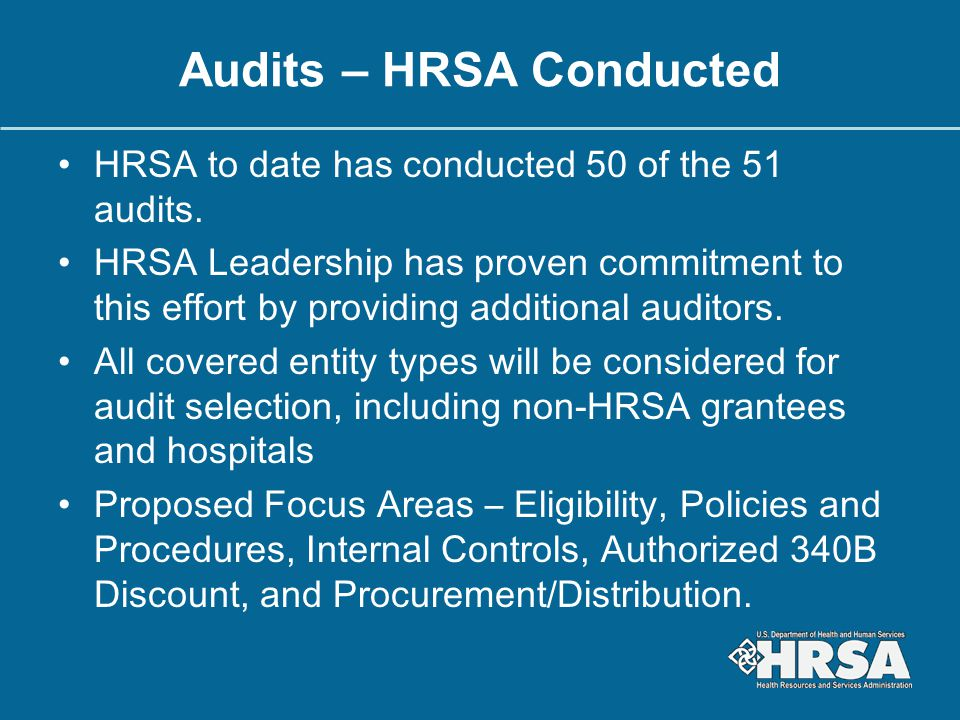 Audits – HRSA Conducted