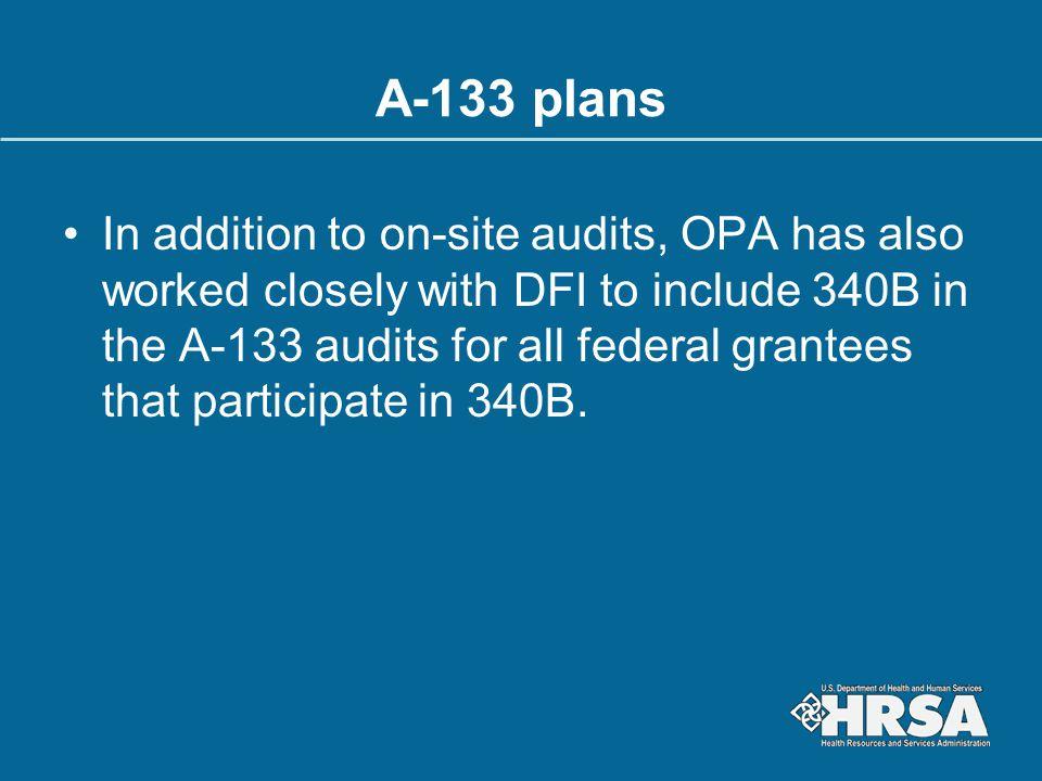A-133 plans