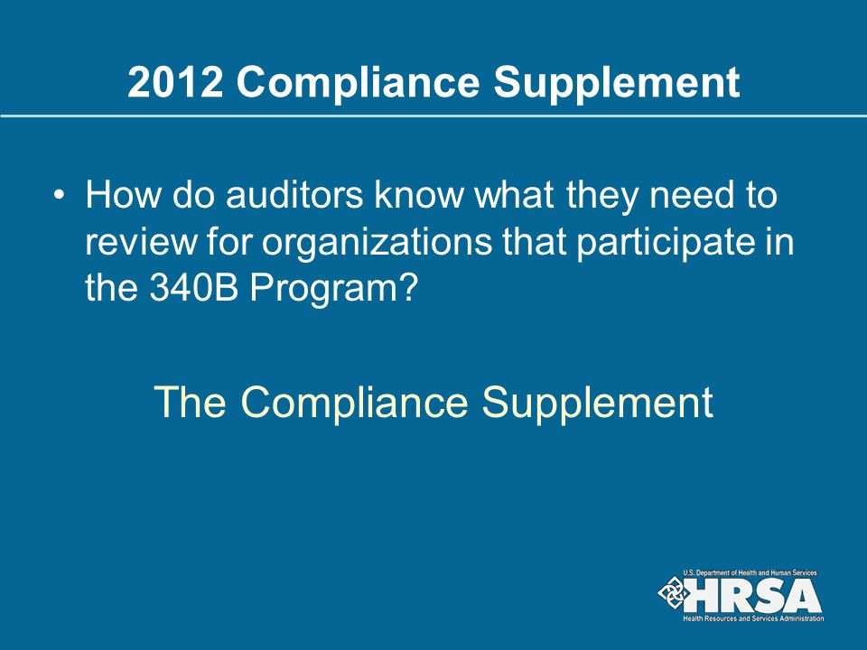 2012 Compliance Supplement